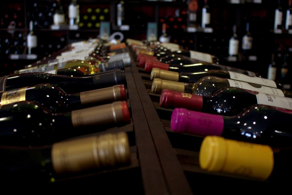 Rangement de bouteilles de vin